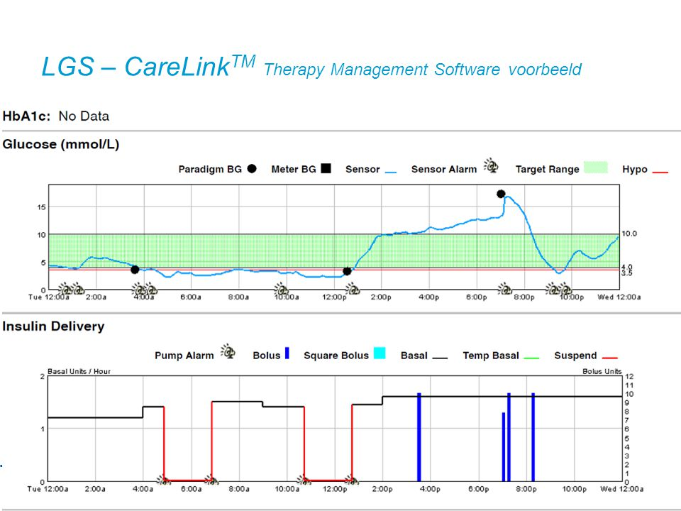 LGS – CareLinkTM Therapy Management Software voorbeeld