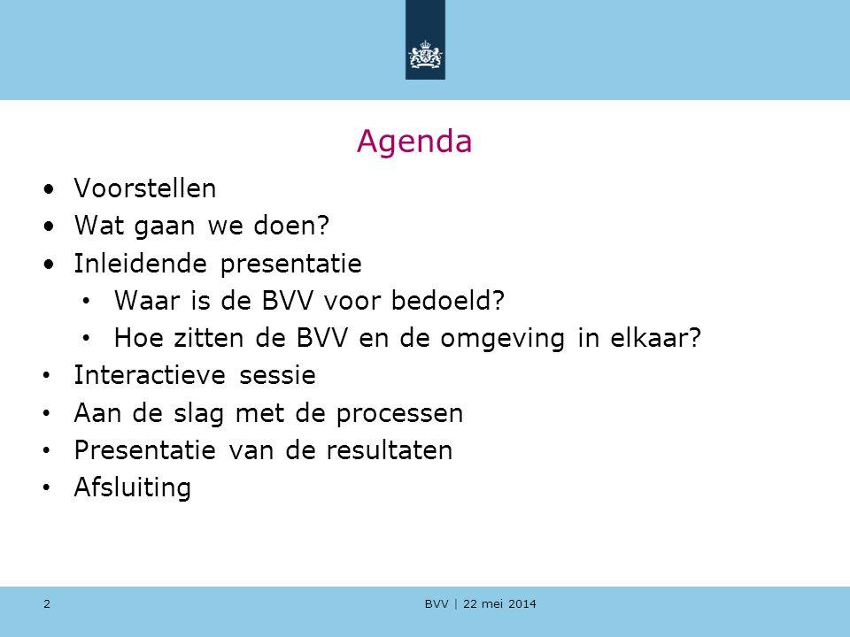 Agenda Voorstellen Wat gaan we doen Inleidende presentatie