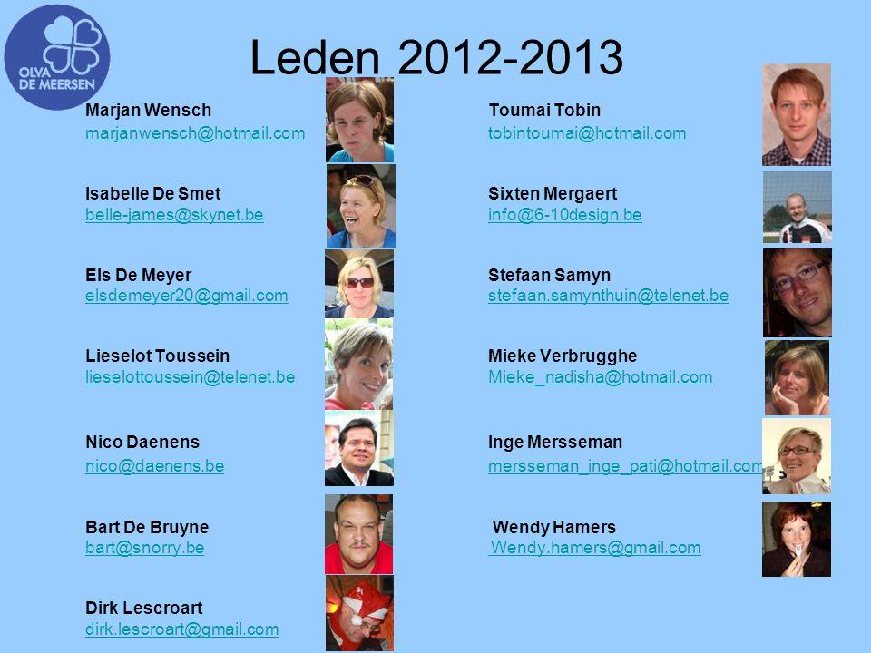 Leden 2012-2013 marjanwensch@hotmail.com tobintoumai@hotmail.com