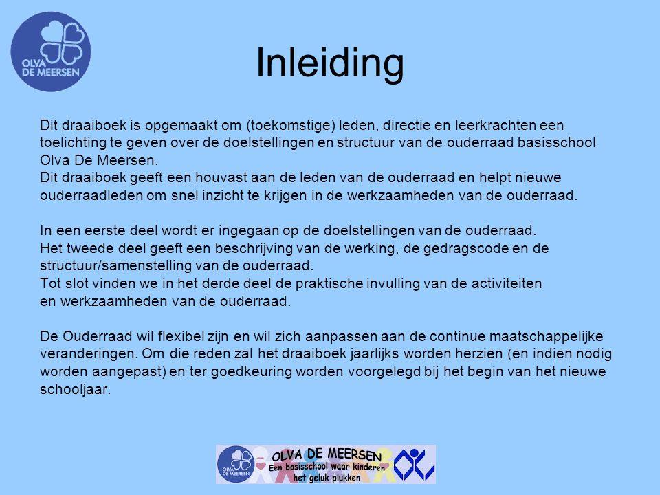 Inleiding Dit draaiboek is opgemaakt om (toekomstige) leden, directie en leerkrachten een.
