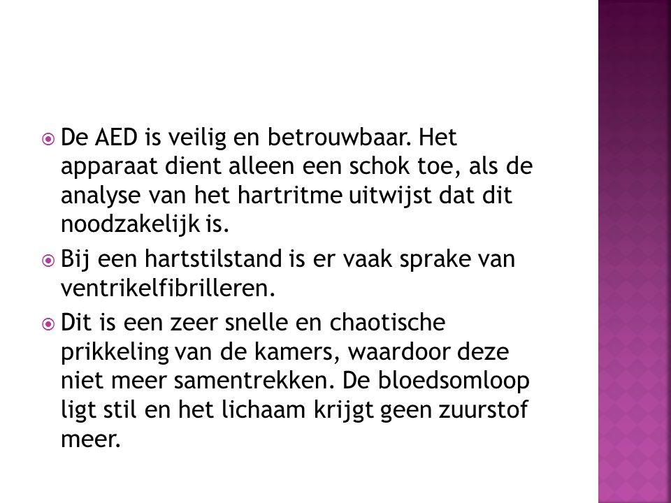 De AED is veilig en betrouwbaar