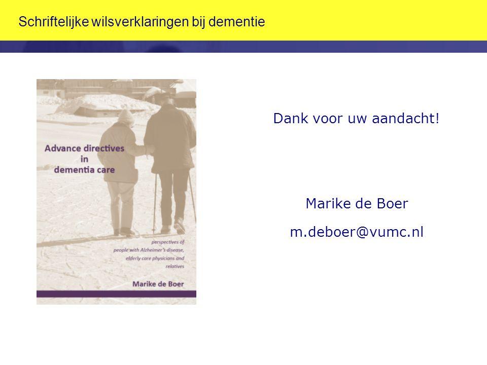 Schriftelijke wilsverklaringen bij dementie