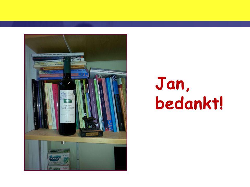 Jan, bedankt!
