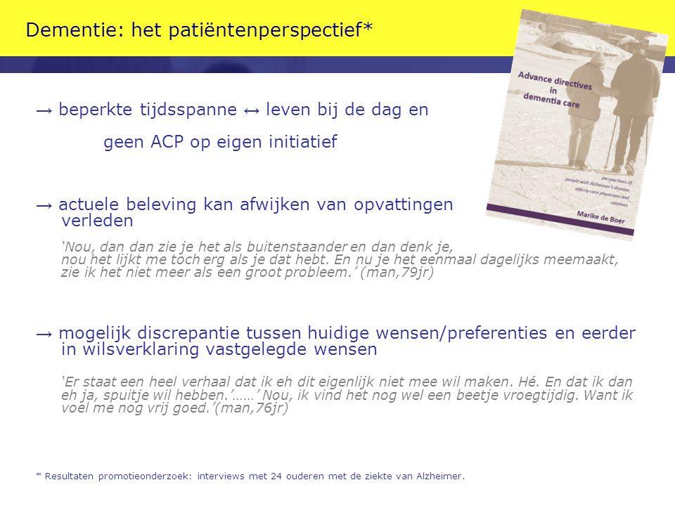 Dementie: het patiëntenperspectief*