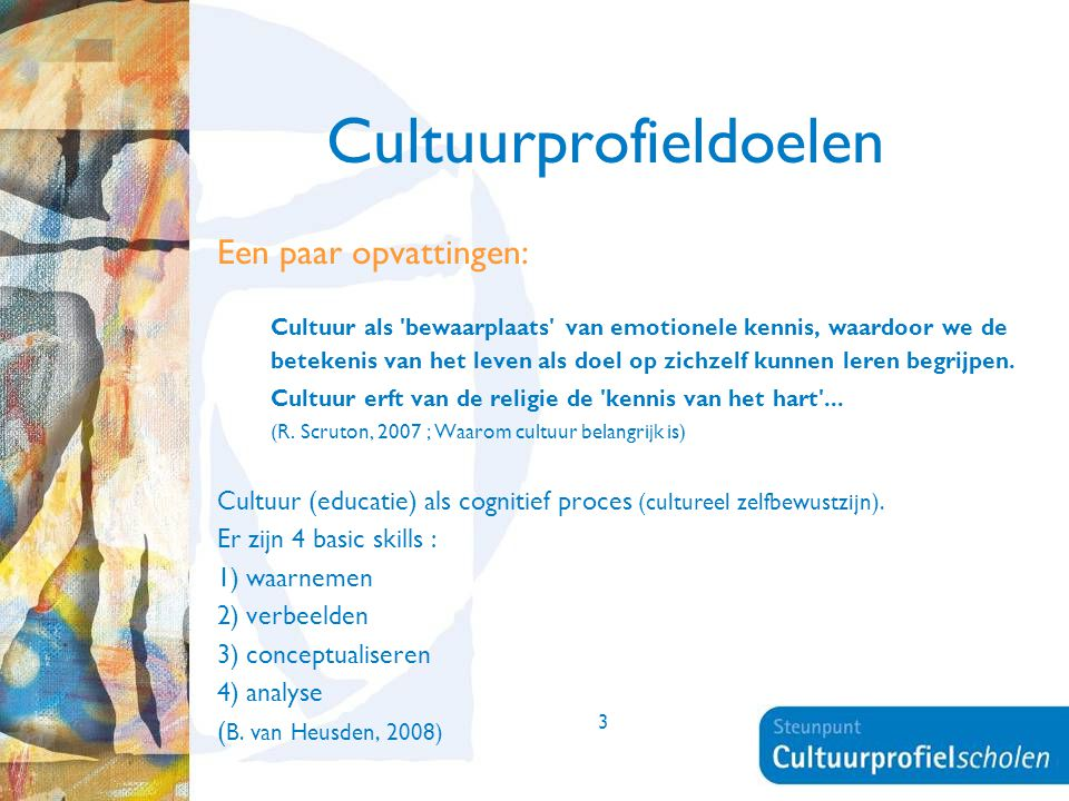 Cultuurprofieldoelen