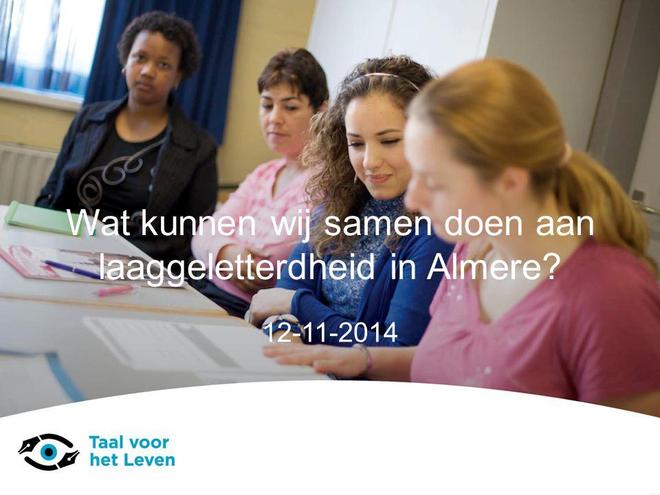 Wat kunnen wij samen doen aan laaggeletterdheid in Almere