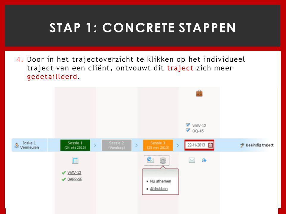 STAP 1: concrete stappen