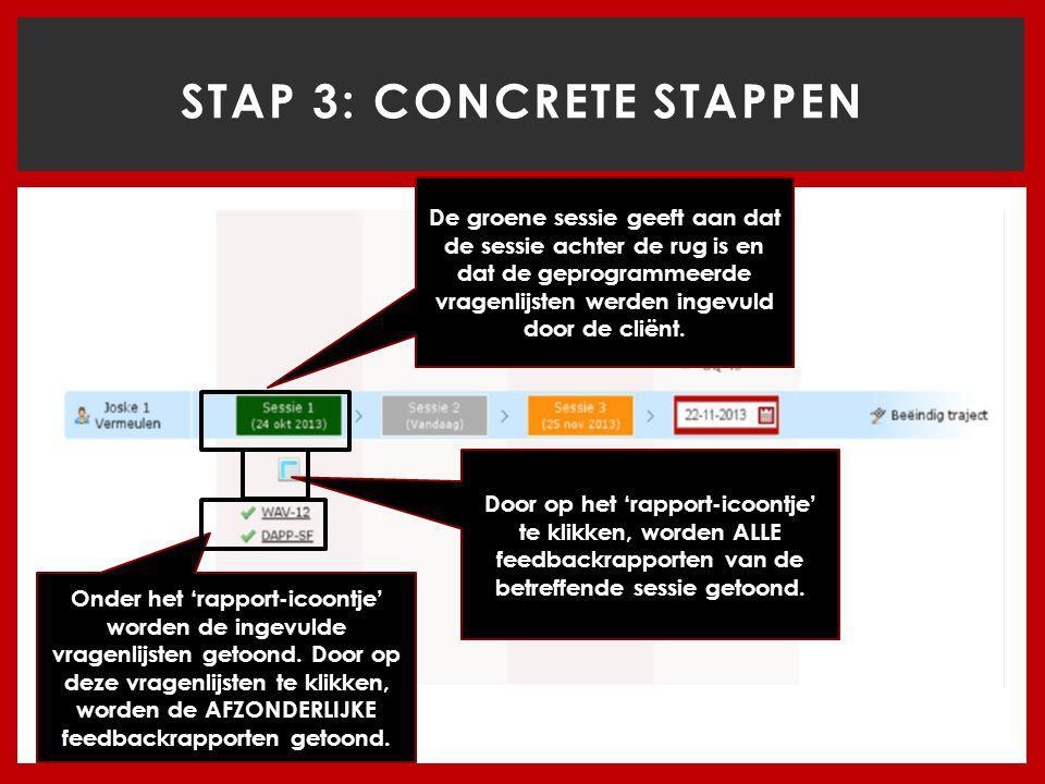 STAP 3: CONCRETE STAPPEN