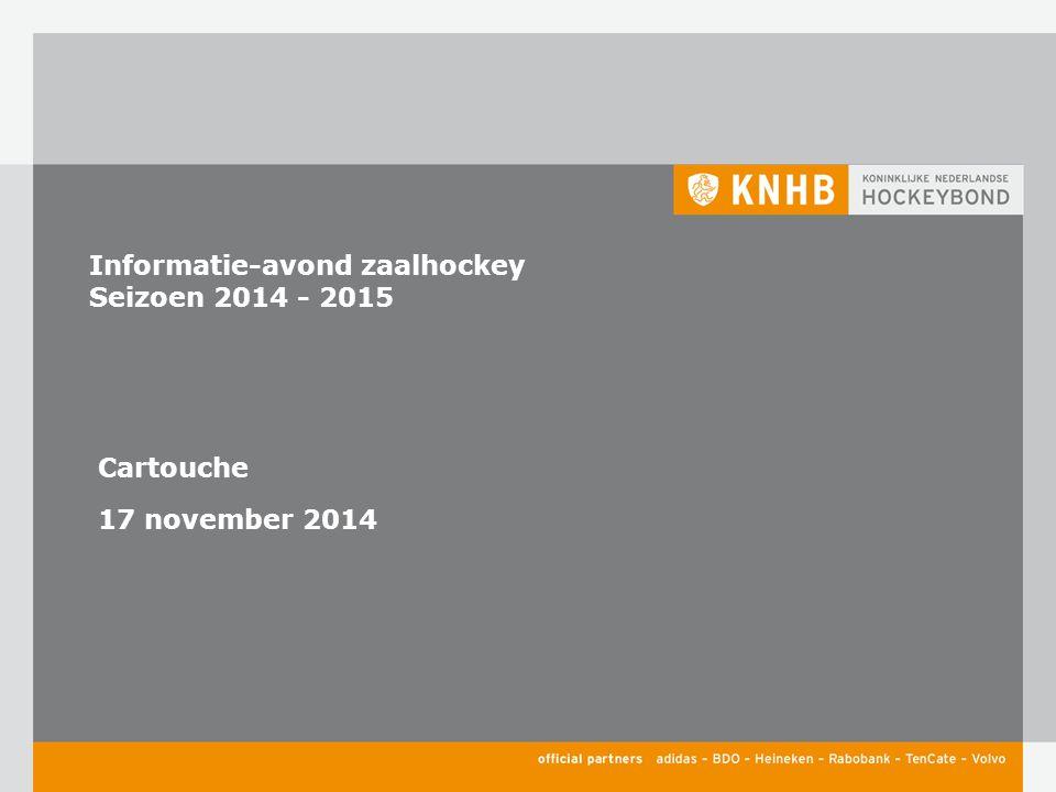 Informatie-avond zaalhockey Seizoen 2014 - 2015