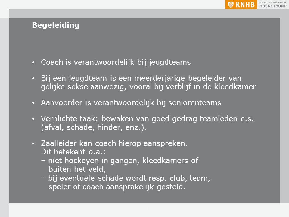 Coach is verantwoordelijk bij jeugdteams