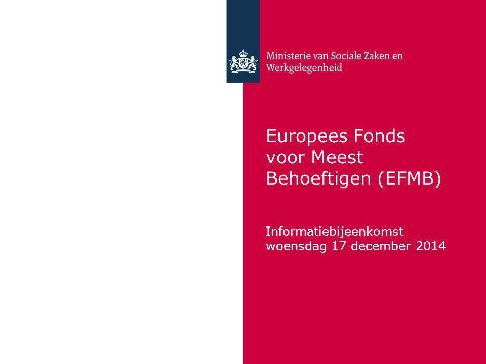 Europees Fonds voor Meest Behoeftigen (EFMB)