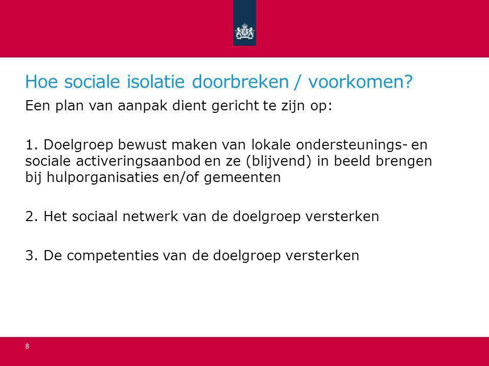 Hoe sociale isolatie doorbreken / voorkomen