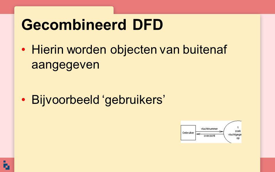 Gecombineerd DFD Hierin worden objecten van buitenaf aangegeven