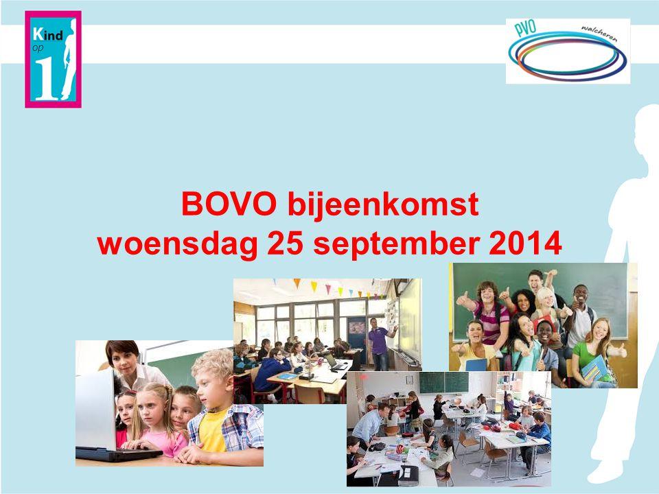 BOVO bijeenkomst woensdag 25 september 2014