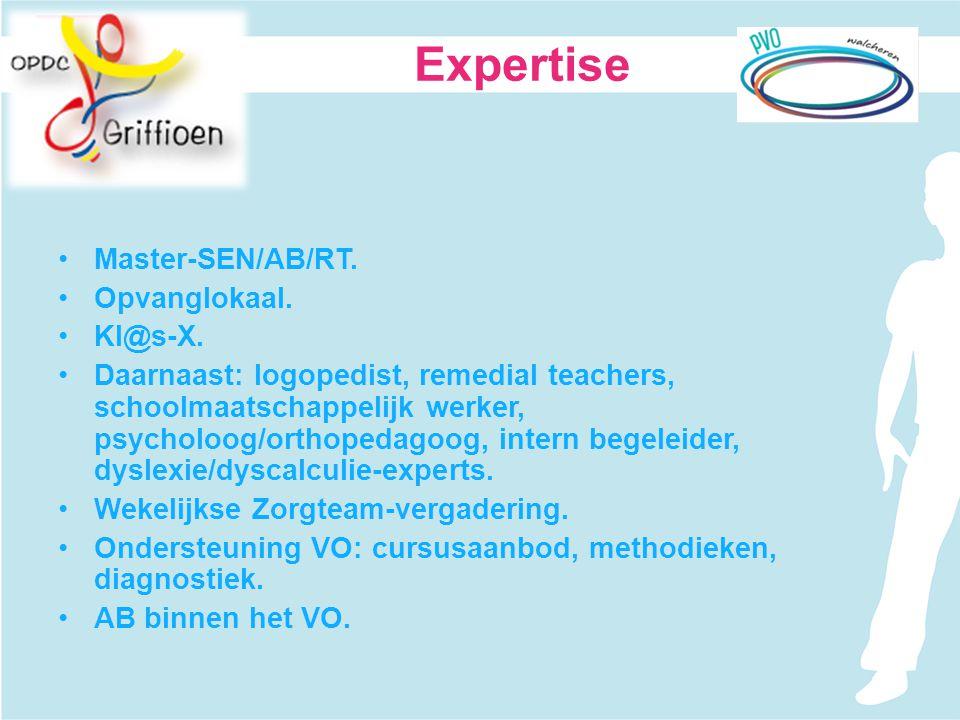 Expertise Master-SEN/AB/RT. Opvanglokaal. Kl@s-X.