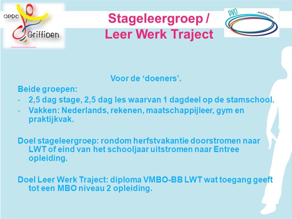 Stageleergroep / Leer Werk Traject