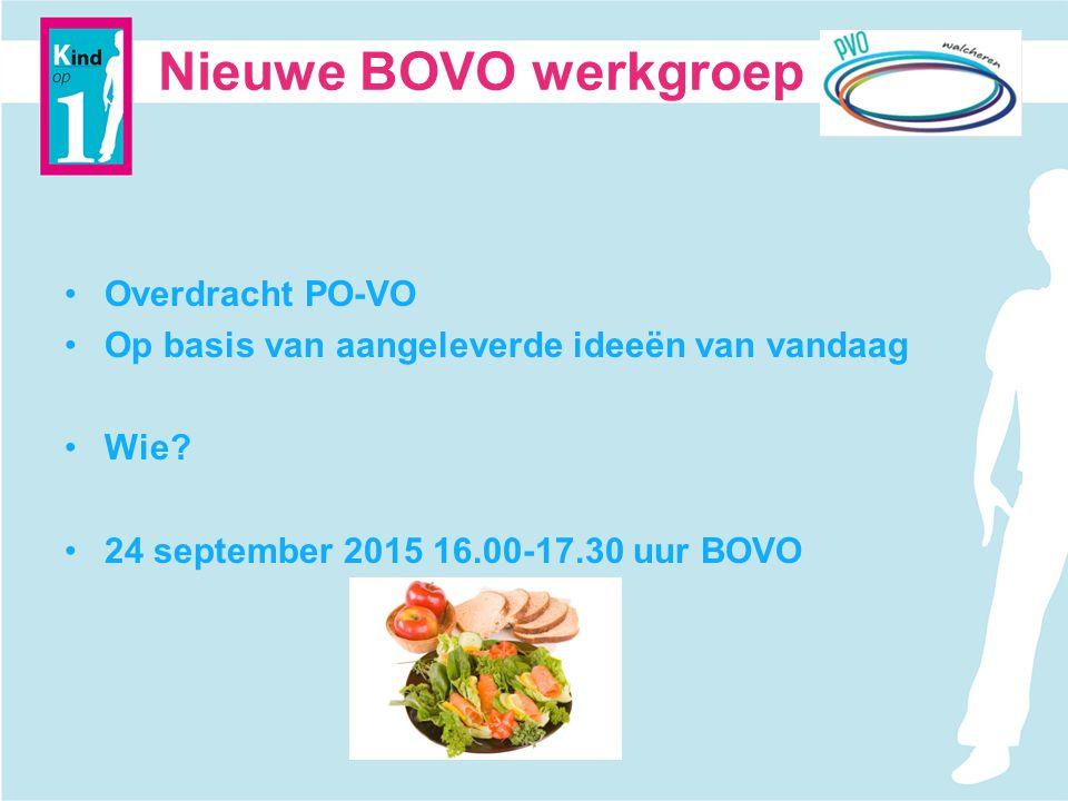 Nieuwe BOVO werkgroep Overdracht PO-VO