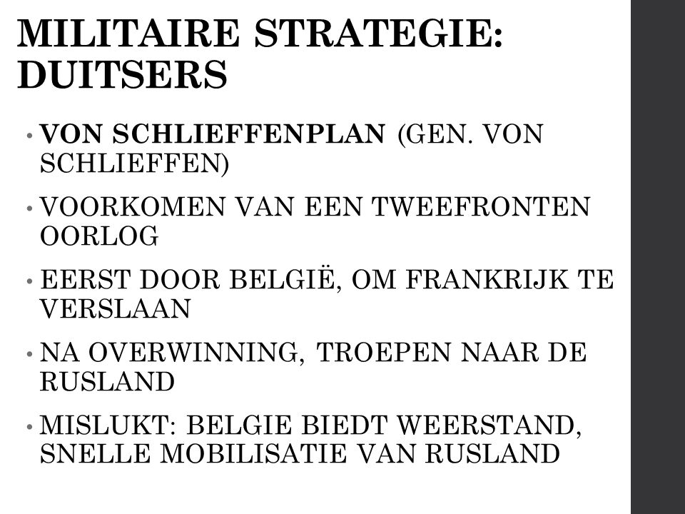 MILITAIRE STRATEGIE: DUITSERS