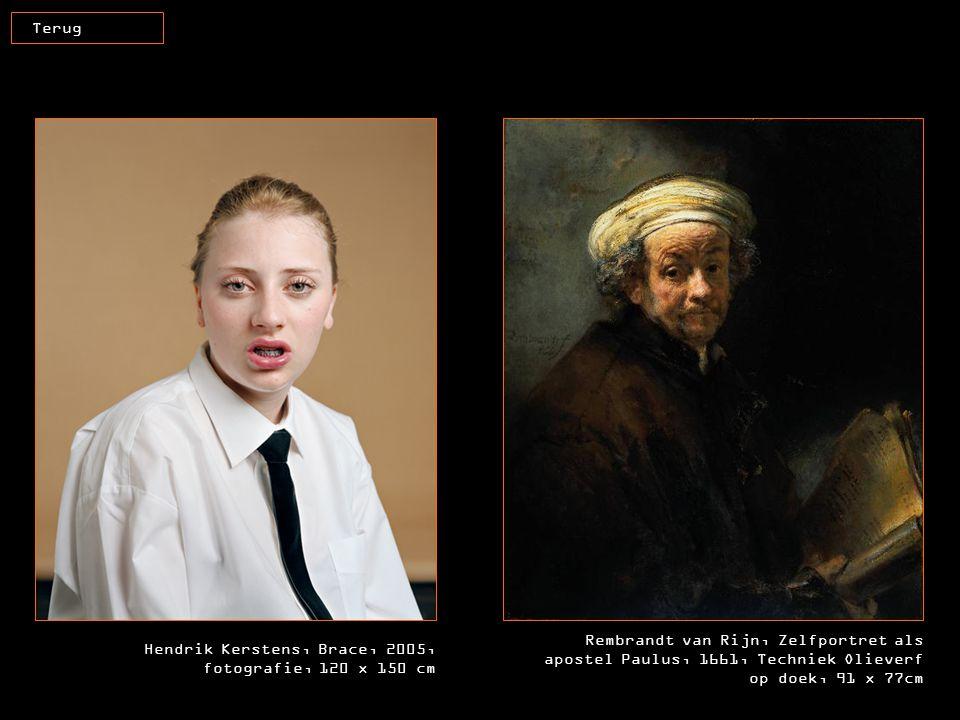 Terug Rembrandt van Rijn, Zelfportret als apostel Paulus, 1661, Techniek Olieverf op doek, 91 x 77cm.