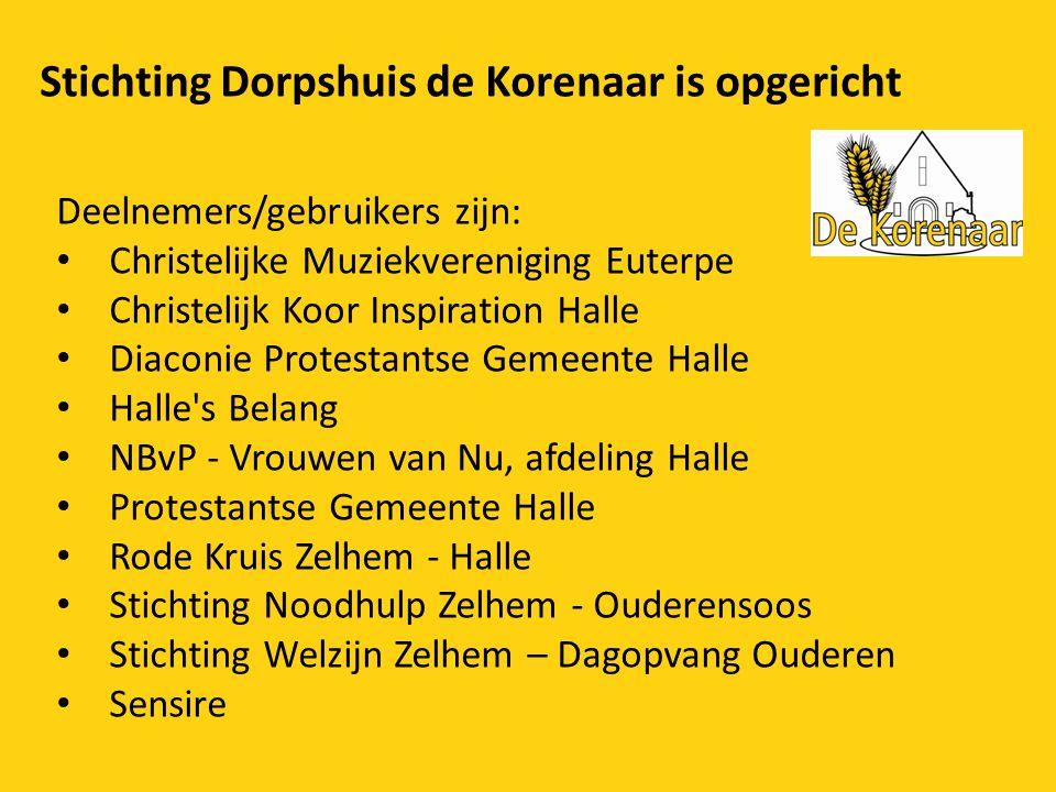 Stichting Dorpshuis de Korenaar is opgericht