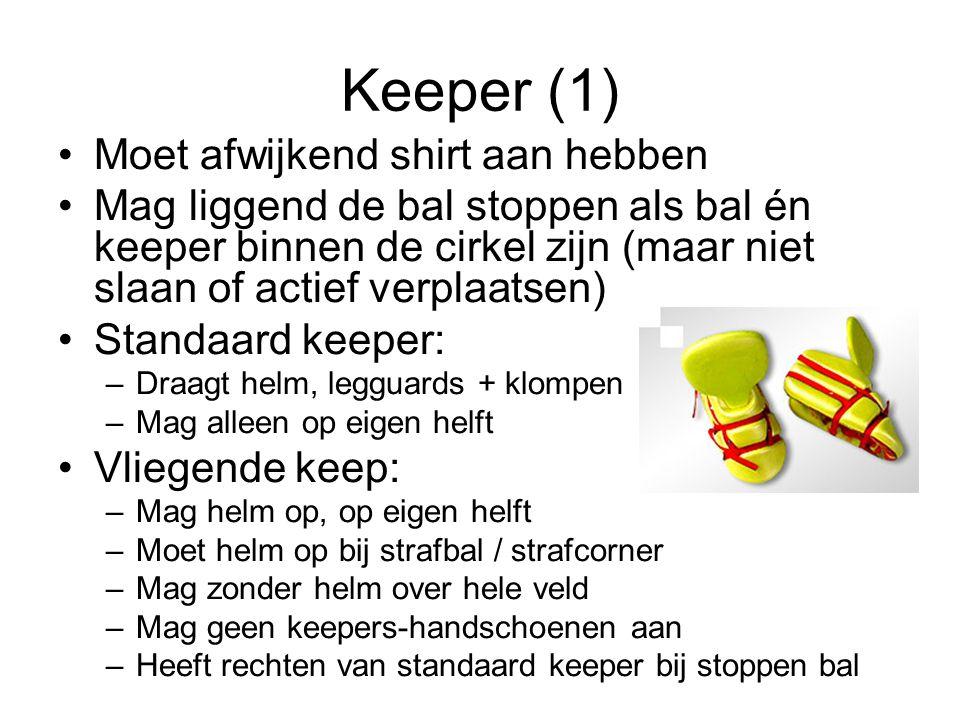 Keeper (1) Moet afwijkend shirt aan hebben