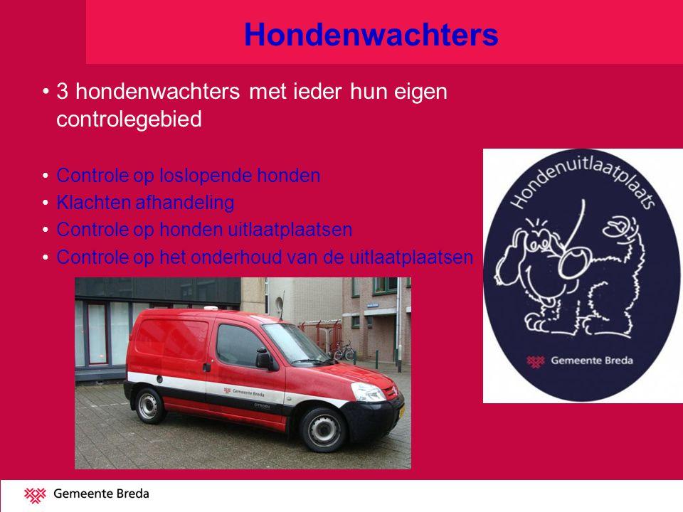 Hondenwachters 3 hondenwachters met ieder hun eigen controlegebied