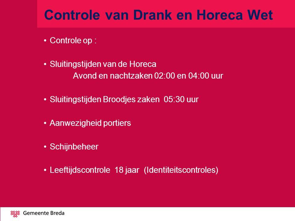 Controle van Drank en Horeca Wet