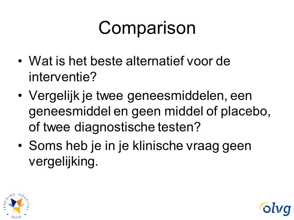 Comparison Wat is het beste alternatief voor de interventie