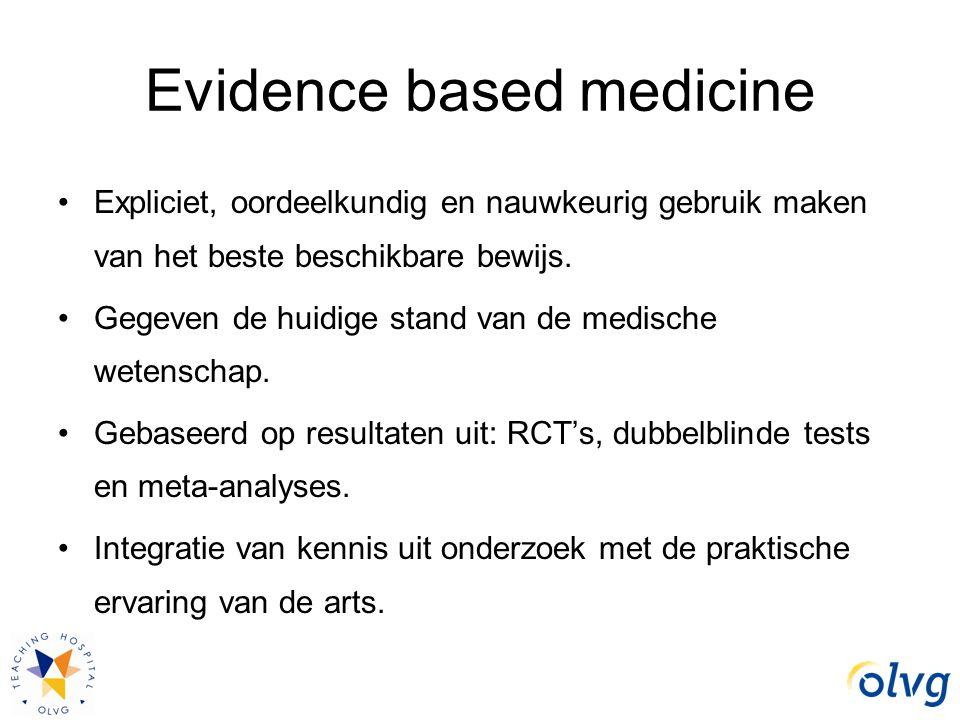 Evidence based medicine