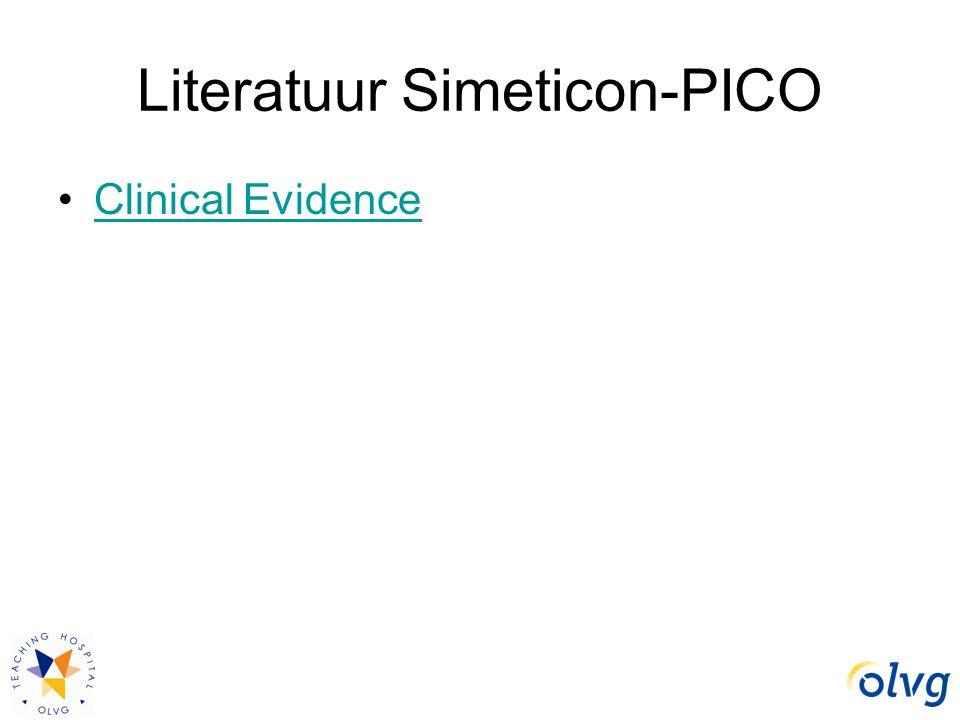 Literatuur Simeticon-PICO