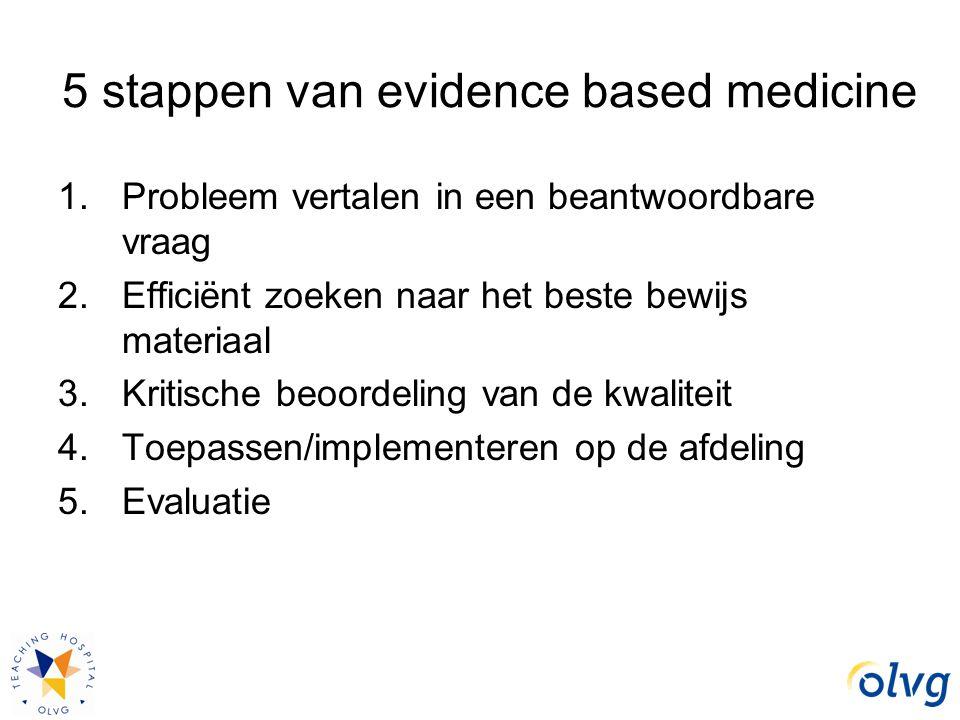 5 stappen van evidence based medicine