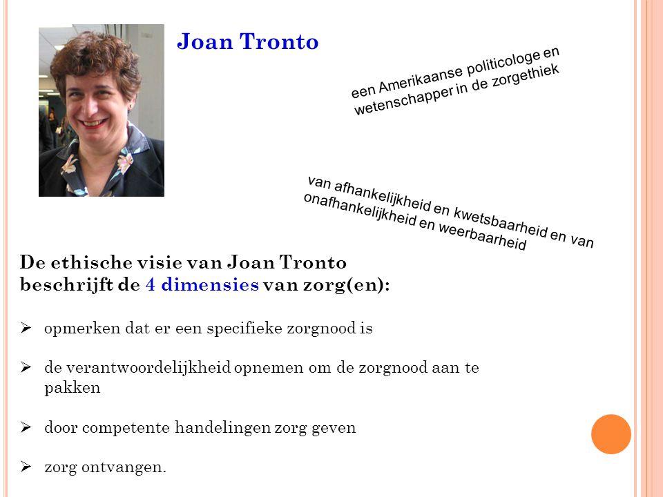 Joan Tronto De ethische visie van Joan Tronto