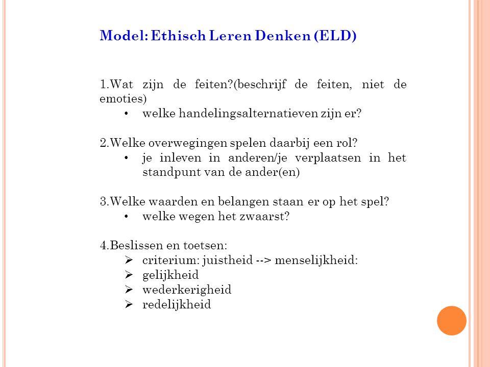 Model: Ethisch Leren Denken (ELD)