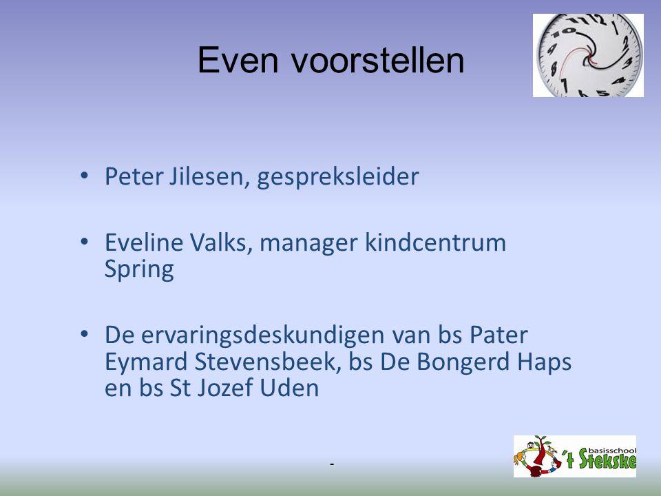Even voorstellen Peter Jilesen, gespreksleider