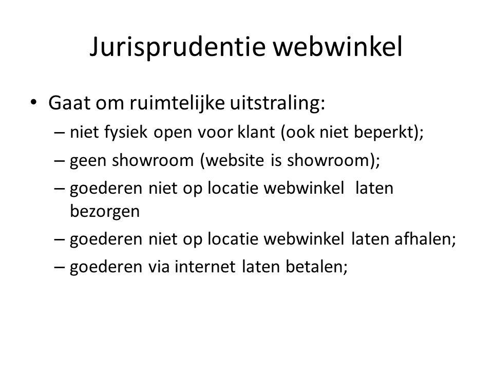 Jurisprudentie webwinkel