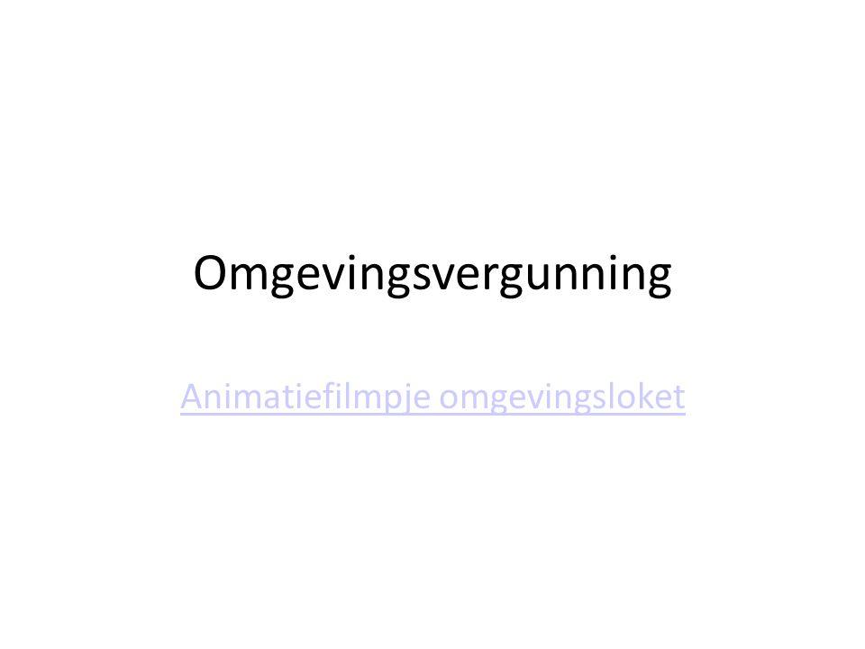 Animatiefilmpje omgevingsloket