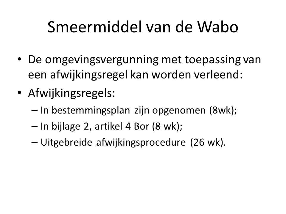 Smeermiddel van de Wabo