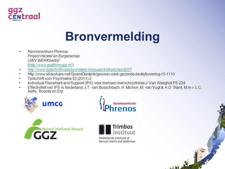 Bronvermelding Kenniscentrum Phrenos Project Herstel en Burgerschap