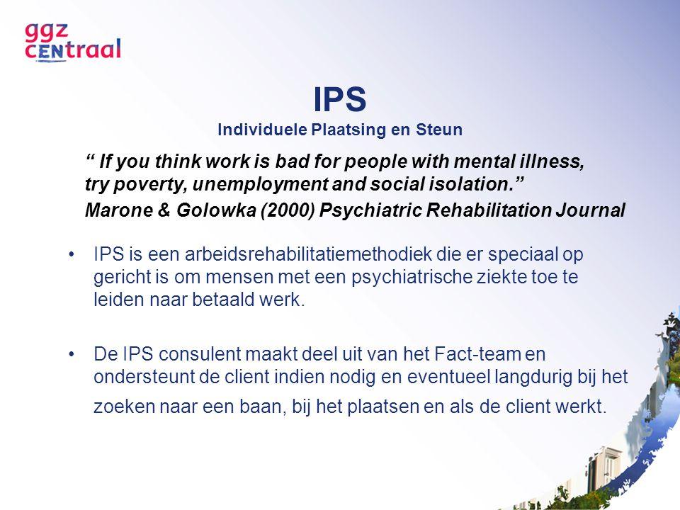 IPS Individuele Plaatsing en Steun