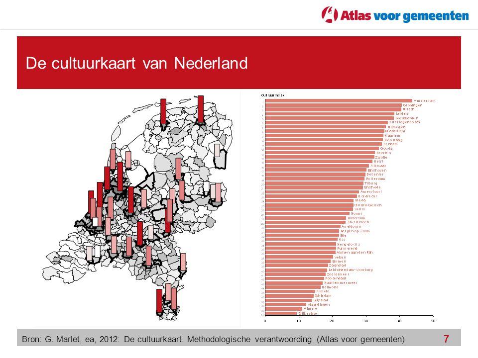 De cultuurkaart van Nederland