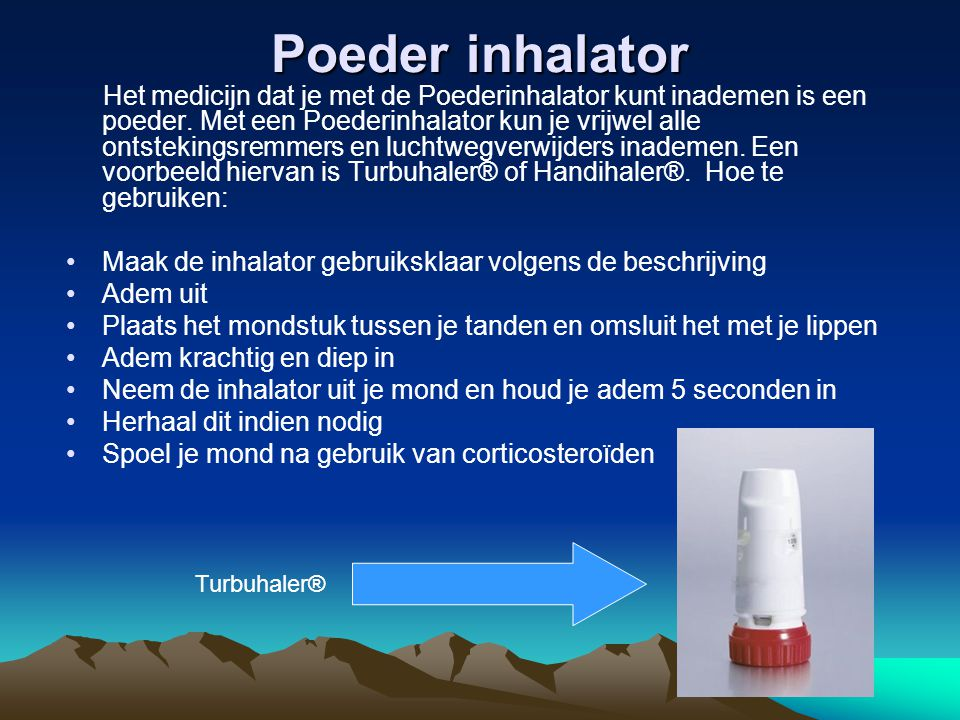 Poeder inhalator