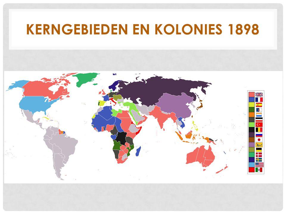Kerngebieden en Kolonies 1898