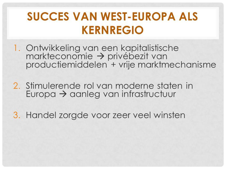 Succes van West-Europa als kernregio