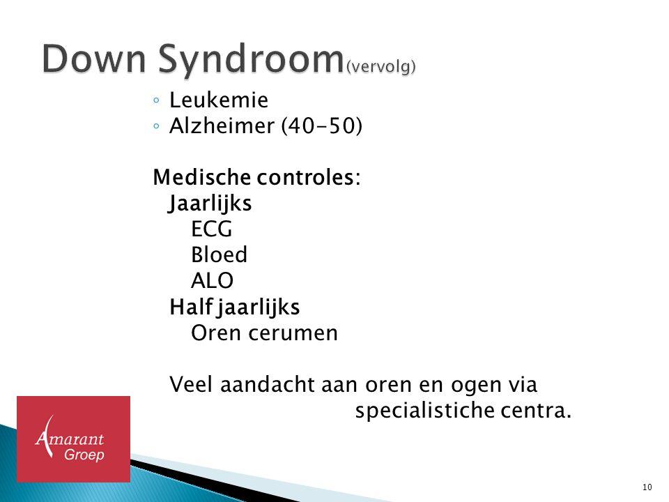 Down Syndroom(vervolg)