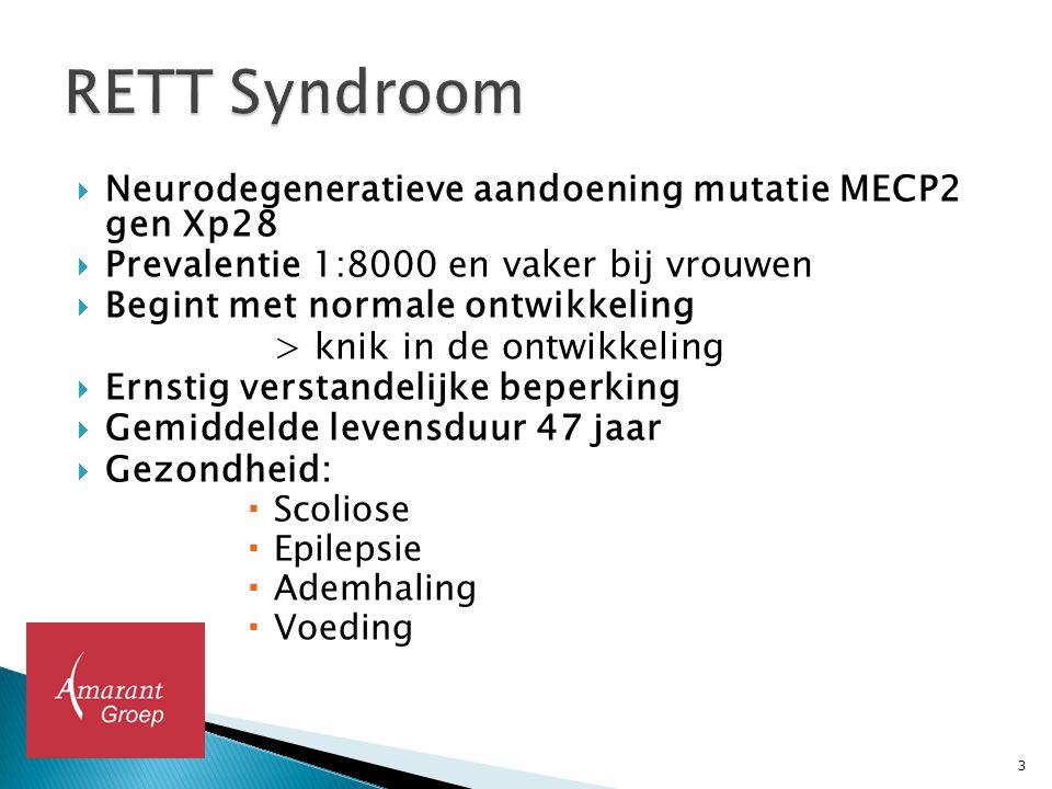 RETT Syndroom Neurodegeneratieve aandoening mutatie MECP2 gen Xp28