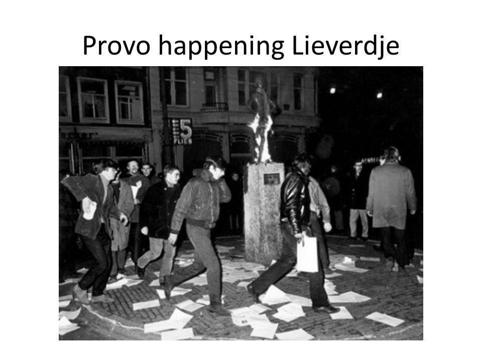 Provo happening Lieverdje