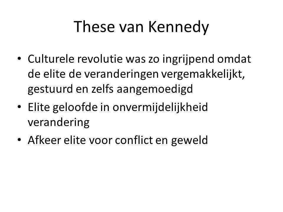 These van Kennedy Culturele revolutie was zo ingrijpend omdat de elite de veranderingen vergemakkelijkt, gestuurd en zelfs aangemoedigd.