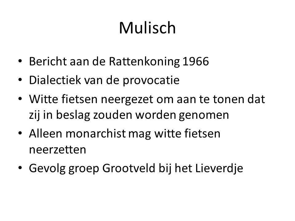 Mulisch Bericht aan de Rattenkoning 1966 Dialectiek van de provocatie