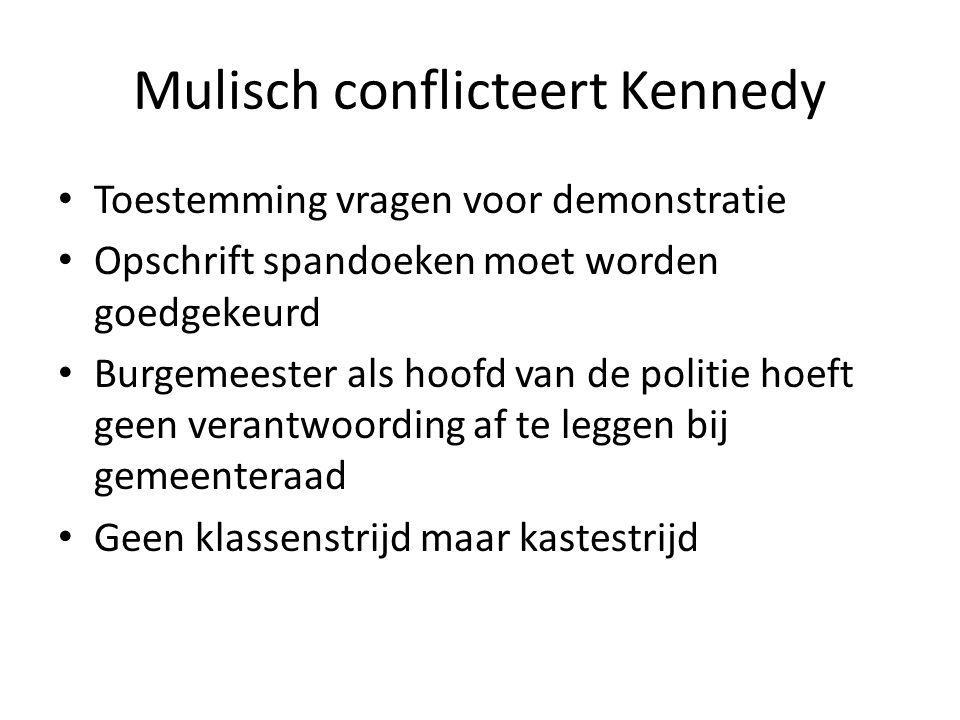 Mulisch conflicteert Kennedy