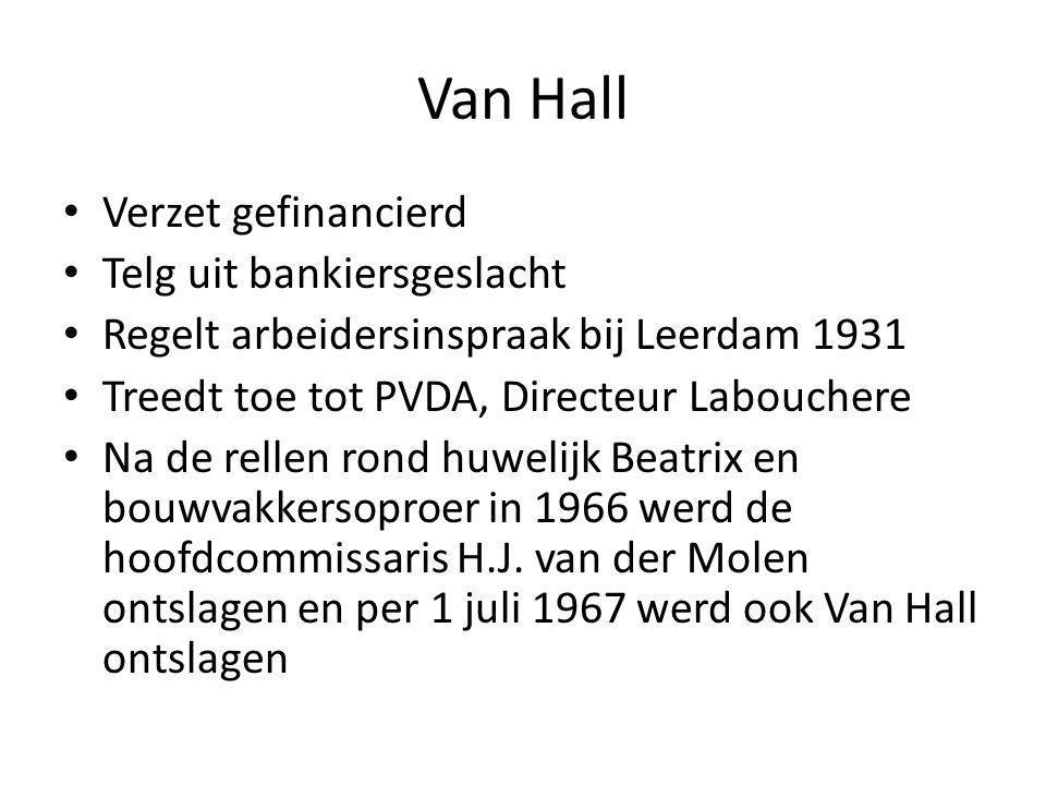 Van Hall Verzet gefinancierd Telg uit bankiersgeslacht